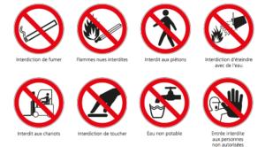 panneaux interdiction veille réglementaire hse